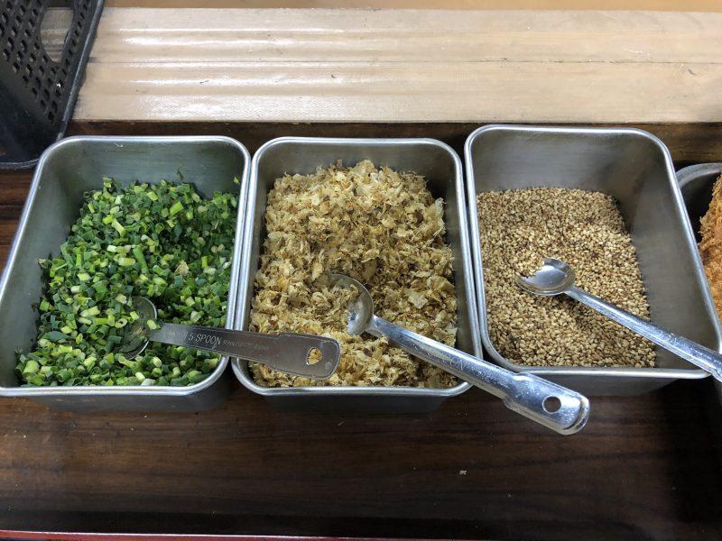 藤村製麺所の薬味